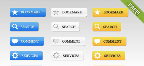 Free PSD web buttons 7