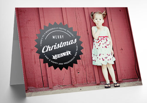Free Christmas holiday greeting cards psd templates 1