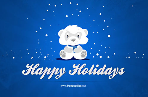 Free Christmas holiday greeting cards psd templates 3