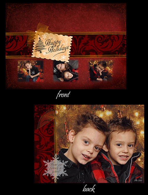Free Christmas holiday greeting cards psd templates 4