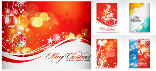 Free Christmas holiday greeting cards psd templates 5