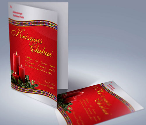 Free Christmas holiday greeting cards psd templates 7