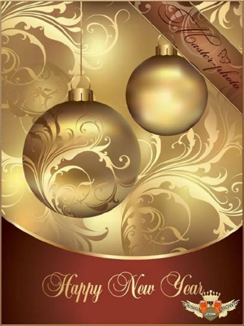 Free Christmas holiday greeting cards psd templates 8