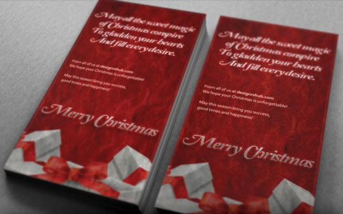 Free Christmas holiday greeting cards psd templates 9