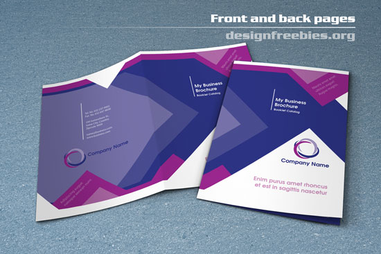 Free bifold booklet flyer brochure indesign template no 1 for Indesign brochure templates free