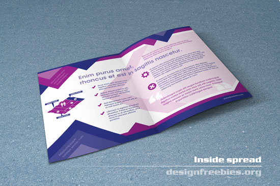Free bifold booklet flyer brochure indesign template no 1 for Brochure booklet templates