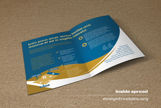 Free bifold booklet flyer brochure indesign template no 2 for Two fold brochure design