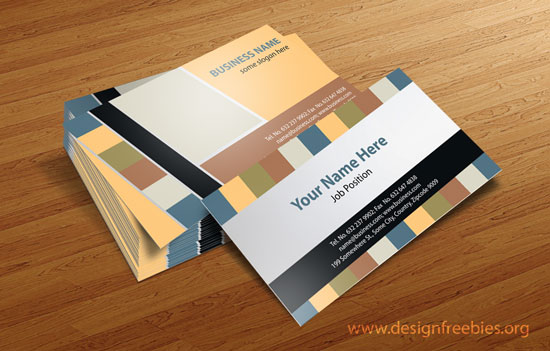 Free Vector Business Card Design Templates - 2014 Vol. 1 Set 2