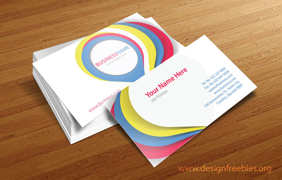 Free Vector Business Card Design Templates - 2014 Vol. 1 Set 3