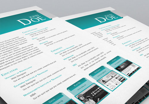 stock indesign free cv resume template 1