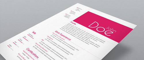 Stock InDesign Free CV Resume Template 2