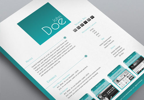 stock indesign free cv resume template 3