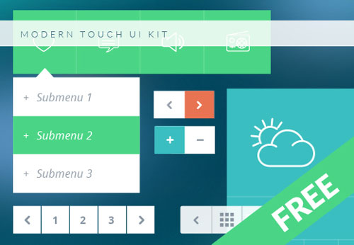 Free Modern Touch UI