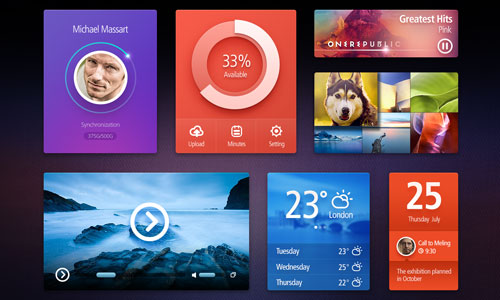 Colourful Free UI Kit