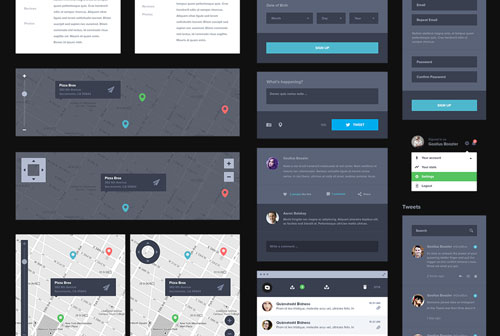 UI Kit Dark