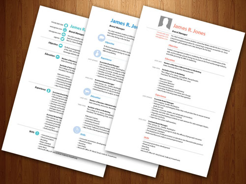 modele cv indesign