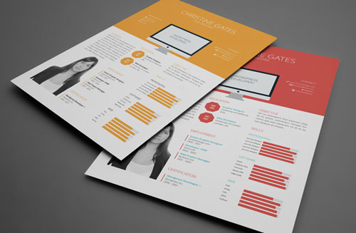 free cv resume indesign template 2