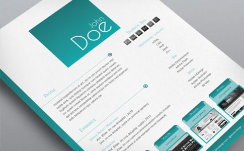 8 Sets Free Indesign Resume Templates