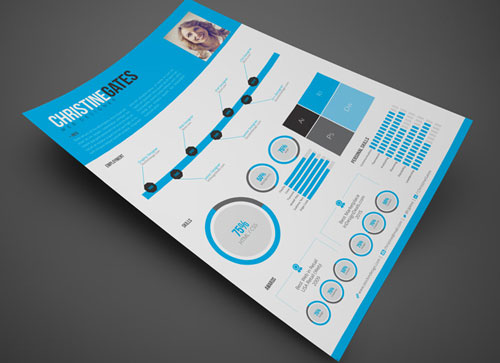 Bekannt 8 Sets of Free InDesign CV/Resume Templates | Designfreebies EM65