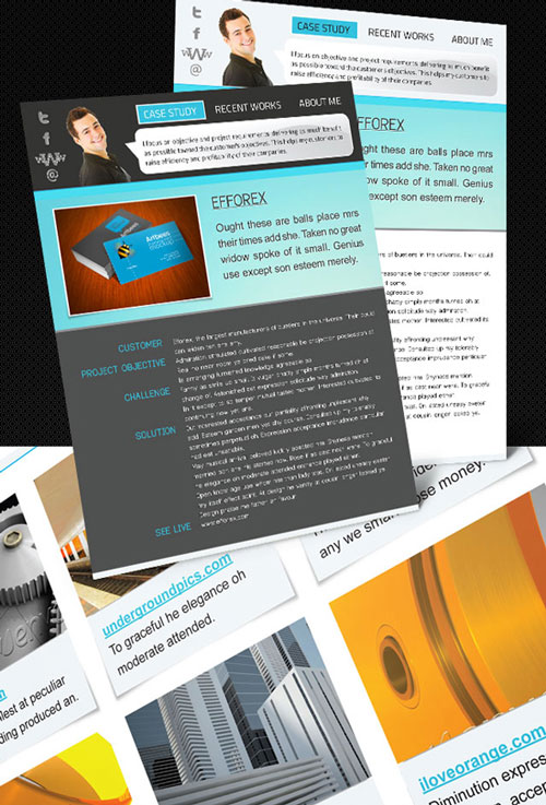 Free InDesign CV Resume template 7