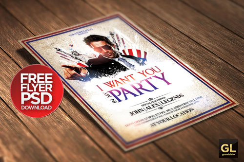 Free PSD club party flyer template 12