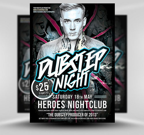 Free PSD club party fyler template 2