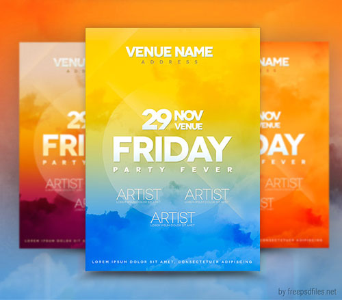 Free PSD club party flyer template 4