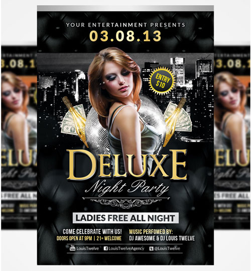 Free PSD club party flyer template 5