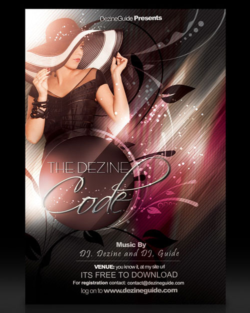 Free PSD club party flyer template 7