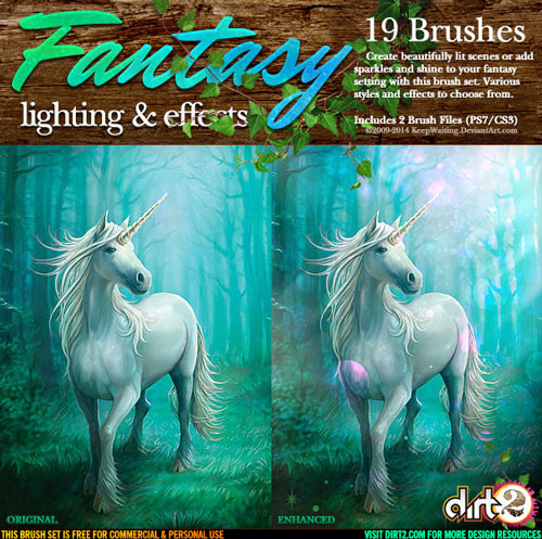 Free light effects photoshop brushes 1