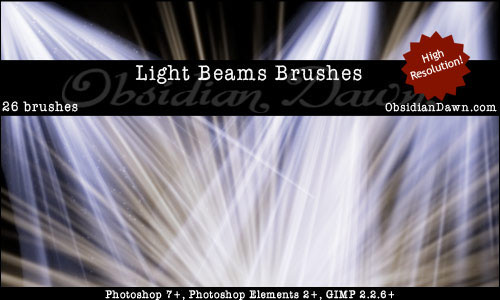 Free light effects photoshop brushes 2