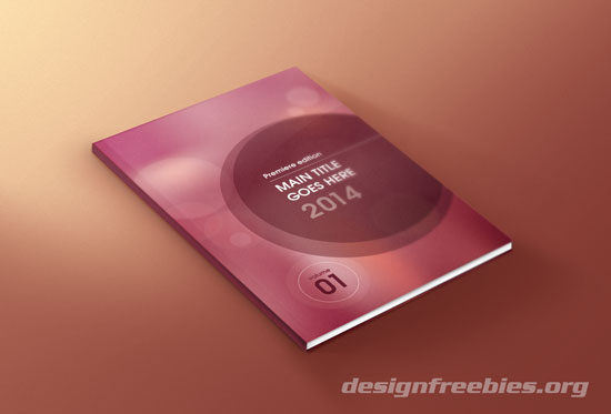 Vector Brochure Cover Design Vol. 1 - Red bokeh design