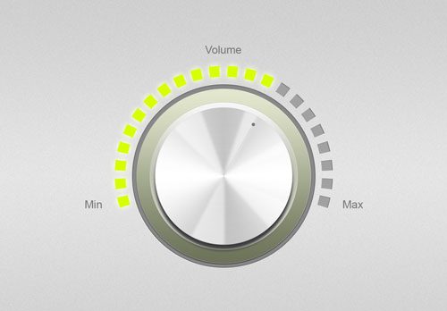 Free volume knobs and dials PSD GUI templates 3