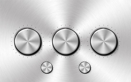Free volume knobs and dials PSD GUI templates 5