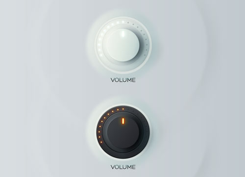 Free volume knobs and dials PSD GUI templates 9