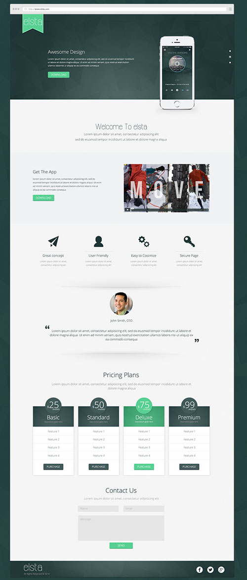 Best Of Free Web Landing Page Templates Designfreebies - Seo landing page template