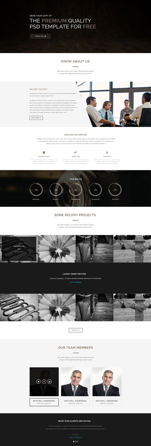 Free web landing page template 11