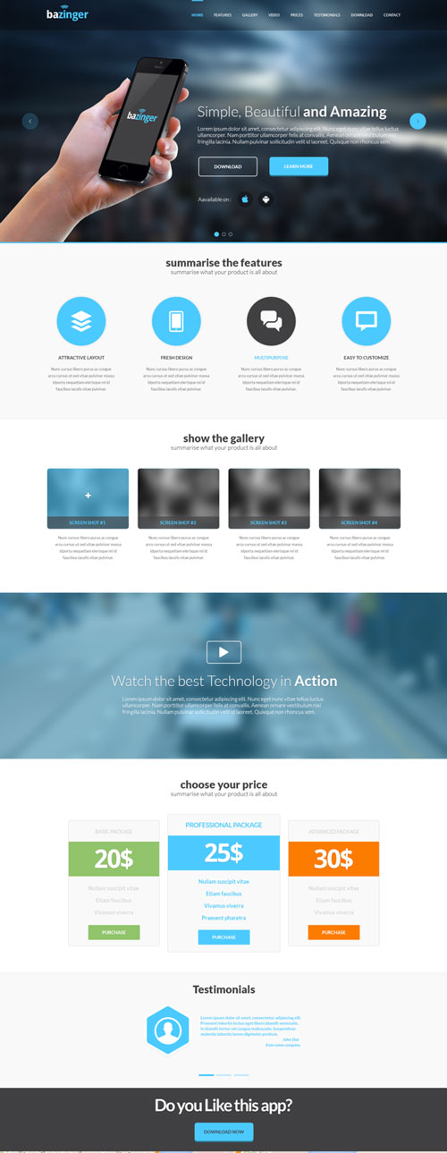 Best of Free Web Landing Page Templates | Designfreebies
