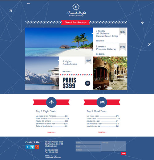 Free web landing page template 2