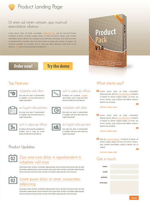 Free web landing page template 3