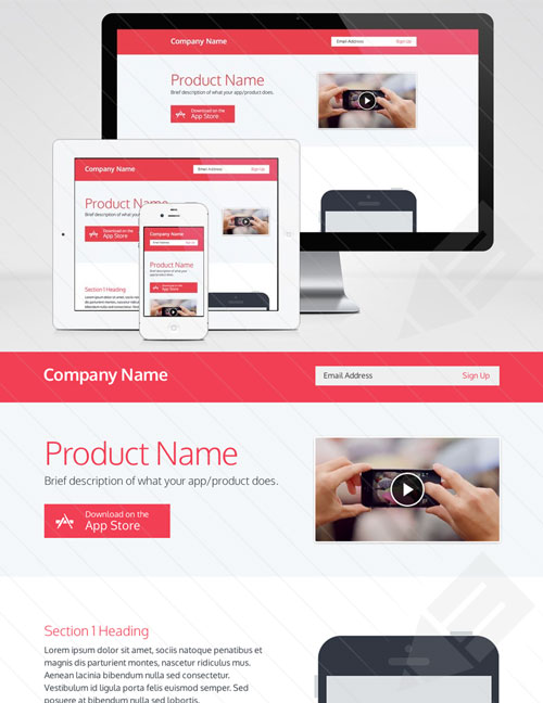 Free web landing page template 7