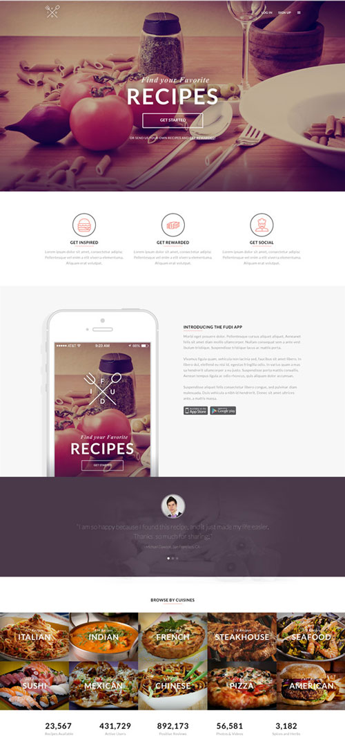 Free web landing page template 9