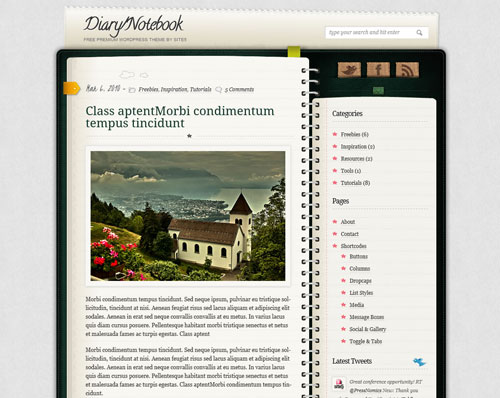 2014 free wordpress theme for personal blog 12