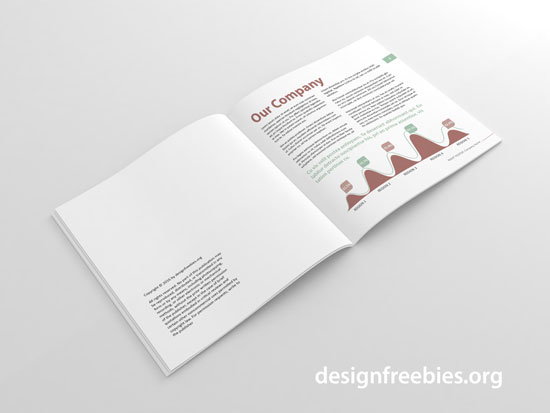 free square indesign brochure template spread 1