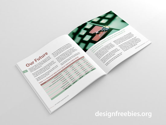 free square indesign brochure template spread 3