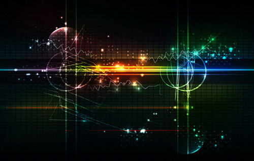 Free technology abstract vector background 10