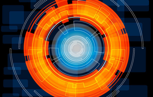 Free technology abstract vector background 3