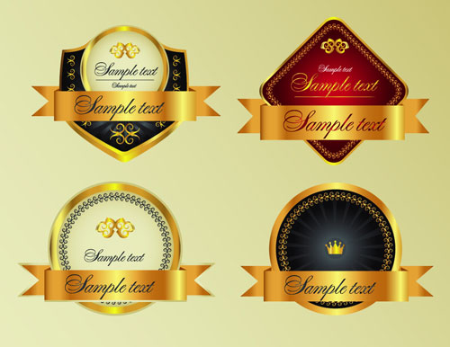 free vector ornate label designs 9