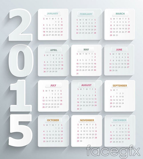 15 Free 2015 Vector Calendar Design Templates | Designfreebies