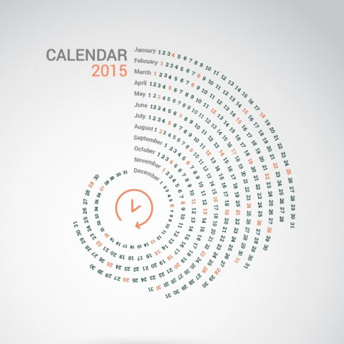 15 Free 2015 Vector Calendar Design Templates Designfreebies